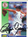 ROGER CLEMENS BOSTON RED SOX AUTOGRAPHED BASEBALL CARD #40115B