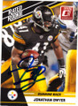 JONATHAN DWYER PITTSBURGH STEELERS AUTOGRAPHED ROOKIE FOOTBALL CARD #40115E