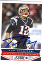 TOM BRADY NEW ENGLAND PATRIOTS AUTOGRAPHED FOOTBALL CARD #40315A