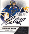 JAROSLAV HALAK ST LOUIS BLUES AUTOGRAPHED HOCKEY CARD #40615A
