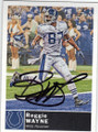 REGGIE WAYNE INDIANAPOLIS COLTS AUTOGRAPHED FOOTBALL CARD #40615G