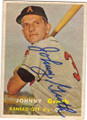 JOHNNY GROTH KANSAS CITY ATHLETICS AUTOGRAPHED VINTAGE BASEBALL CARD #40615J