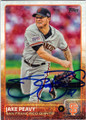 JAKE PEAVY SAN FRANCISCO GIANTS AUTOGRAPHED BASEBALL CARD #40715H