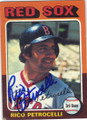 RICO PETROCELLI BOSTON RED SOX AUTOGRAPHED VINTAGE BASEBALL CARD #40715i