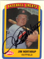 JIM NORTHRUP DETROIT TIGERS AUTOGRAPHED BASEBALL CARD #40815C