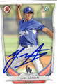 YIMI GARCIA LOS ANGELES DODGERS AUTOGRAPHED ROOKIE BASEBALL CARD #40815J