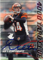 ANDY DALTON CINCINNATI BENGALS AUTOGRAPHED FOOTBALL CARD #40915C