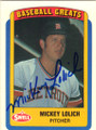 MICKEY LOLICH DETROIT TIGERS AUTOGRAPHED BASEBALL CARD #40915G