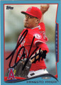 ERNESTO FRIERI LOS ANGELES ANGELS OF ANAHEIM AUTOGRAPHED BASEBALL CARD #40915H
