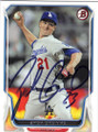 ZACK GREINKE LOS ANGELES DODGERS AUTOGRAPHED BASEBALL CARD #41015A