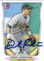 DANIEL ROBERTSON OAKLAND ATHLETICS AUTOGRAPHED ROOKIE BASEBALL CARD #41015D