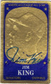 JIM KING WASHINGTON SENATORS AUTOGRAPHED VINTAGE BASEBALL CARD #41015F