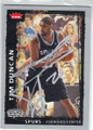 TIM DUNCAN SAN ANTONIO SPURS AUTOGRAPHED BASKETBALL CARD #41015K