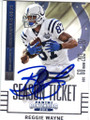 REGGIE WAYNE INDIANAPOLIS COLTS AUTOGRAPHED FOOTBALL CARD #41115F