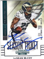 LeSEAN McCOY PHILADELPHIA EAGLES AUTOGRAPHED FOOTBALL CARD #41215C