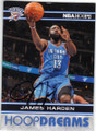 JAMES HARDEN OKLAHOMA CITY THUNDER AUTOGRAPHED BASKETBALL CARD #41215D