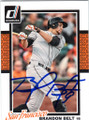 BRANDON BELT SAN FRANCISCO GIANTS AUTOGRAPHED BASEBALL CARD #41215i