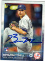 BRYAN MITCHELL NEW YORK YANKEES AUTOGRAPHED ROOKIE BASEBALL CARD #41315E