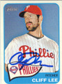 CLIFF LEE PHILADELPHIA PHILLIES AUTOGRAPHED BASEBALL CARD #41315H