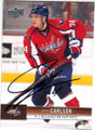 JOHN CARLSON WASHINGTON CAPITALS AUTOGRAPHED HOCKEY CARD #41415G
