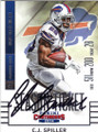 CJ SPILLER BUFFALO BILLS AUTOGRAPHED FOOTBALL CARD #41415K