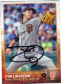 TIM LINCECUM SAN FRANCISCO GIANTS AUTOGRAPHED BASEBALL CARD #41415P
