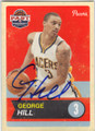 GEORGE HILL INDIANA PACERS AUTOGRAPHED BASKETBALL CARD #41415Q