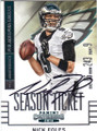NICK FOLES PHILADELPHIA EAGLES AUTOGRAPHED FOOTBALL CARD #41515N