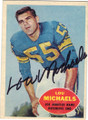 LOU MICHAELS LOS ANGELES RAMS AUTOGRAPHED VINTAGE ROOKIE FOOTBALL CARD #41615B