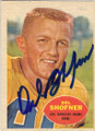 DEL SHOFNER LOS ANGELES RAMS AUTOGRAPHED VINTAGE FOOTBALL CARD #41715G