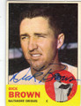 DICK BROWN BALTIMORE ORIOLES AUTOGRAPHED VINTAGE BASEBALL CARD #41715L
