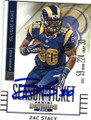 ZAC STACY ST LOUIS RAMS AUTOGRAPHED FOOTBALL CARD #41815A