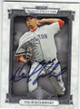 FELIX DOUBRONT BOSTON RED SOX AUTOGRAPHED BASEBALL CARD #41815B