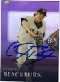 CLAYTON BLACKBURN SAN FRANCISCO GIANTS AUTOGRAPHED BASEBALL CARD #41815D