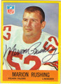 MARION RUSHING ATLANTA FALCONS AUTOGRAPHED VINTAGE FOOTBALL CARD #41815G