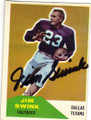 JIM SWINK DALLAS TEXANS AUTOGRAPHED VINTAGE FOOTBALL CARD #41815J