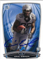 ERIC EBRON DETROIT LIONS AUTOGRAPHED ROOKIE FOOTBALL CARD #41915D