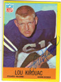 LOU KIROUAC ATLANTA FALCONS AUTOGRAPHED VINTAGE FOOTBALL CARD #42015B