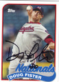 DOUG FISTER WASHINGTON NATIONALS AUTOGRAPHED BASEBALL CARD #42015C