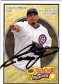 CARLOS ZAMBRANO CHICAGO CUBS AUTOGRAPHED BASEBALL CARD #42015F