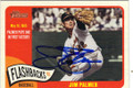 JIM PALMER BALTIMORE ORIOLES AUTOGRAPHED BASEBALL CARD #42015J