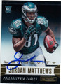 JORDAN MATTHEWS PHILADELPHIA EAGLES AUTOGRAPHED ROOKIE FOOTBALL CARD #42115B