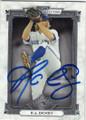 RA DICKEY TORONTO BLUE JAYS AUTOGRAPHED BASEBALL CARD #42115C