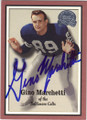 GINO MARCHETTI BALTIMORE COLTS AUTOGRAPHED FOOTBALL CARD #42115G