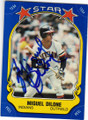 MIGUEL DILONE CLEVELAND INDIANS AUTOGRAPHED VINTAGE STICKER BASEBALL CARD #42115H