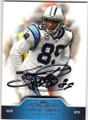 STEVE SMITH CAROLINA PANTHERS AUTOGRAPHED FOOTBALL CARD #42215A
