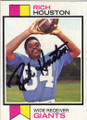 RICH HOUSTON NEW YORK GIANTS AUTOGRAPHED VINTAGE ROOKIE FOOTBALL CARD #42215E