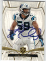 LUKE KUECHLY CAROLINA PANTHERS AUTOGRAPHED & NUMBERED FOOTBALL CARD #42215i