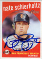 NATE SCHIERHOLTZ SAN FRANCISCO GIANTS AUTOGRAPHED BASEBALL CARD #42215K