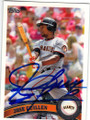 JOSE GUILLEN SAN FRANCISCO GIANTS AUTOGRAPHED BASEBALL CARD #42315B